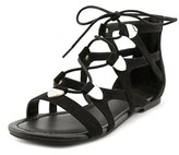 G by Guess Lewy Open Toe Canvas Gladiator Sandal.