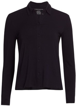 Majestic Filatures Soft Touch Boxy Button-Down Shirt