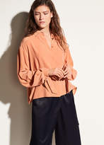 Vince Tie Sleeve Silk Blouse