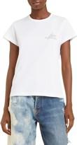 Givenchy Crystal Embellished Beaded Logo Cotton T-Shirt