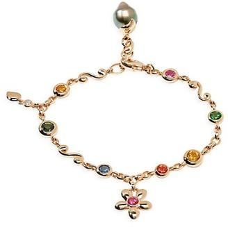Tamara Comolli India Dream Candy 18K Rose Gold & Multi-Stone Charm Bracelet