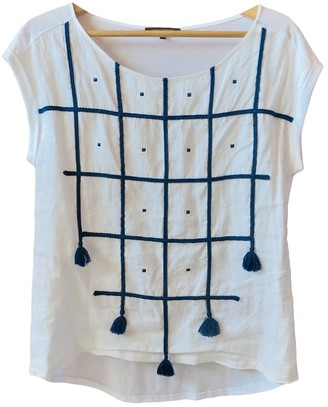 Adolfo Dominguez White Linen Top for Women