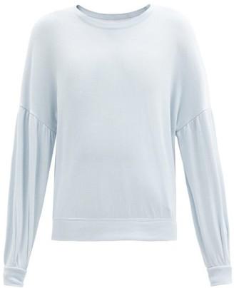 The Upside Loire Bella Cotton-jersey Sweatshirt - Light Blue