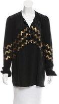 Altuzarra Sequin-Embellished Silk Tunic