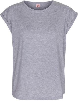 custommade Grey Melange Cotton Lonnie T Shirt - 36 - Grey