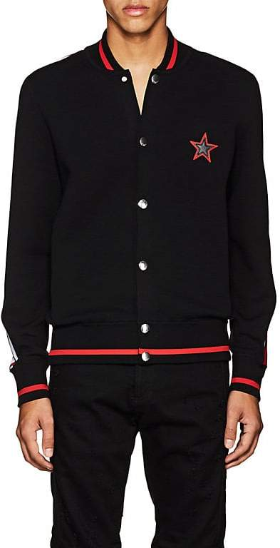 Givenchy Men's Logo Compact-Knit Cotton Teddy Jacket