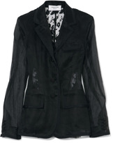 Thom Browne Lace-Back Fitted Blazer