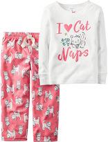 Carter's 2-pc. I Love Cat Naps Fleece Pajama Set - Baby Girls newborn-24m