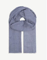 Sandro Diamond print scarf