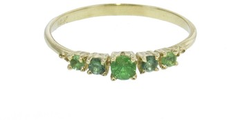 Ruta Reifen Three, Two, One Poison Green Sapphire Tsavorite Ring - Yellow Gold