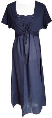 La Perla Blue Cotton Dresses