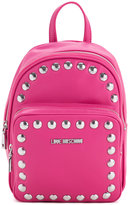 Love Moschino studded logo backpack - women - Polyurethane - One Size
