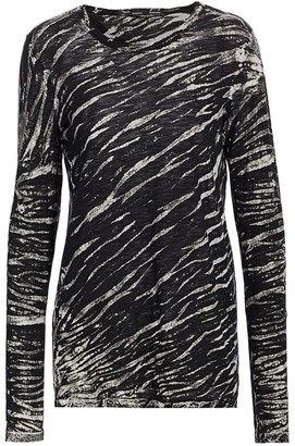 Proenza Schouler Tie-Dye Long-Sleeve Cotton Tee