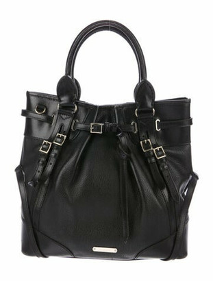 Burberry Leather Landscape Lynher Tote Black