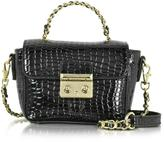 Roccobarocco Mini Croco Embossed Eco Leather Shoulder Bag