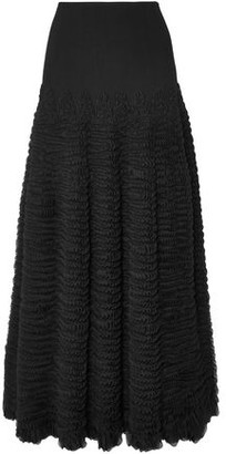 Alaia Ruffled Stretch-knit Midi Skirt