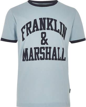 River Island Boys blue Franklin and Marshall logo T-shirt