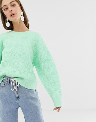 Asos textured knitted sweater