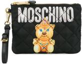 Moschino small quilted pouch - women - Leather/Nylon - One Size