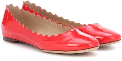 Chloé Lauren patent leather ballerinas