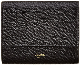 Celine Small Trifold Leather Wallet
