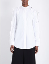 Chalayan Tied-sleeve cotton-poplin shirt