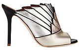 Malone Souliers Donna Metallic Colorblock Fanned Mule Sandals