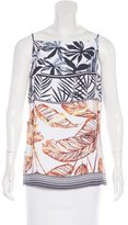Clover Canyon Sleeveless Leaf Print Top