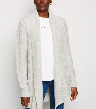 New Look Tall Cable Knit Longline Cardigan