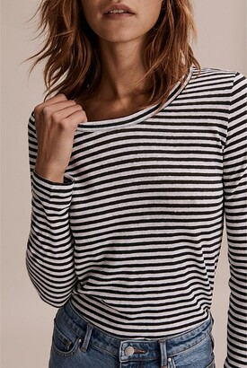 Country Road Long Sleeve Stripe Linen T-Shirt