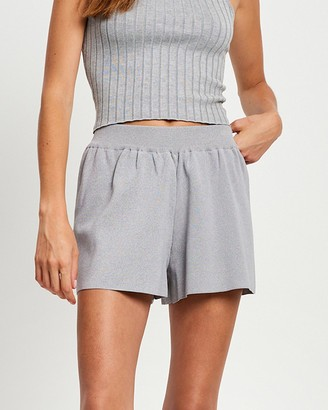 ST MRLO - Women's Grey High-Waisted - Monterey Shorts - Size 6 at The Iconic