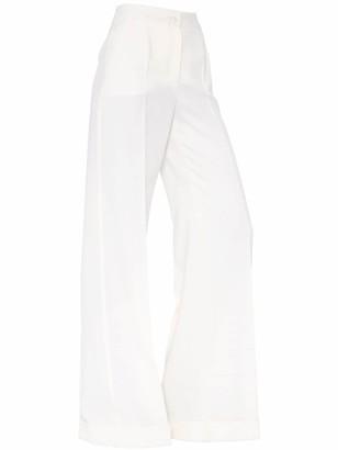 Dolce & Gabbana Wide Leg Wool Pants