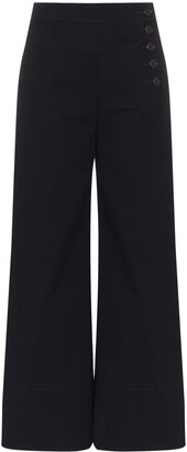 Chloé Buttoned Flared Trousers