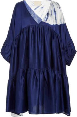 Anaak Airi Tiered Tie-Dye Silk-Georgette Mini Dress