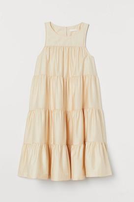 H&M MAMA Cotton satin dress