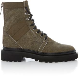 Balmain Ranger Washed-Canvas Boots.