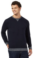 Lee Navy Crew Neck Sweater