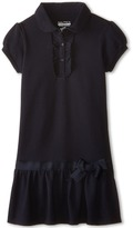 Nautica Pique Peterpan Dress with Ruffle (Little Kids)