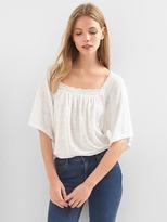 Gap Linen bell-sleeve top