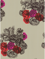 Peonie Cole & Son Wallpaper, Green / Pink, 77/3011
