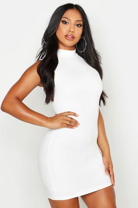 boohoo Sleeveless Funnel Neck Bodycon Dress