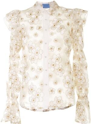 macgraw Souffle embroidered organza shirt