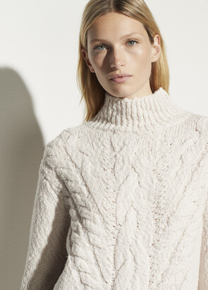 Vince Rising Cable Turtleneck