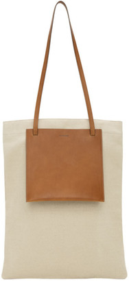 Jil Sander Beige Pocket Shopper Tote