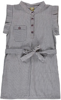 Nui Heidi Chambray Striped Organic Cotton Dress