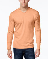 Tasso Elba Men's V-Neck Heathered Long-Sleeve T-Shirt