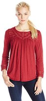 Lucky Brand Women's Chevron Lace Top