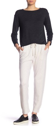 Vince Heathered Knit Wool Blend Jogger Pants
