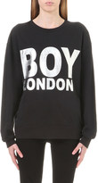 Boy London Logo-print cotton-jersey sweatshirt