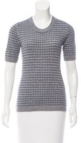 Lela Rose Knit Short Sleeve Sweater